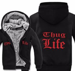 jaqueta tupac Desconto Thug Life Hoodies Jacket Men Inverno Lã Casual forro polar Hip Hop Tupac 2PAC Moletons com capuz