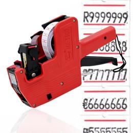 Yeni MX-5500 8 Basamaklı EOS Fiyat Etiketi Gun + 500 Beyaz Kırmızı Çizgiler Etiketlerle + 1 Mürekkep Manuel Fiyatlandırma Makinesi Teklif Etiketleyici Sticker nereden