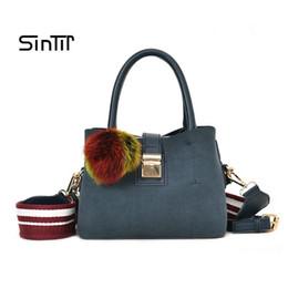 Wide Strap Handbag Women Casual Tote Bag Female Large Shoulder Messenger  Bags High Quality Suede Leather Handbag with Fur Ball blue suede messenger  bag on ... e2ce2a0191