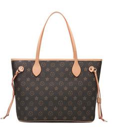 bolsas de cor branca Desconto 2019 novas mulheres bolsas de couro feminino mãe pacote saco mão mãe de carga de ombro bolsa de saco das mulheres + pequeno saco N51106 M40157