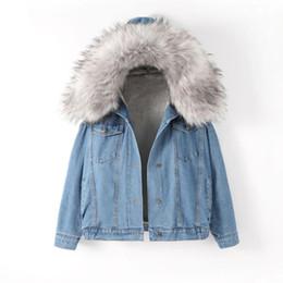 chaquetas de algodón para mujer Rebajas Chaqueta de jeans de talla grande 2XL Chaqueta de invierno para mujer 2019 Chaqueta de mezclilla acolchada de algodón grueso Abrigo de mujer Chaquetas de mezclilla cálidas de gran tamaño