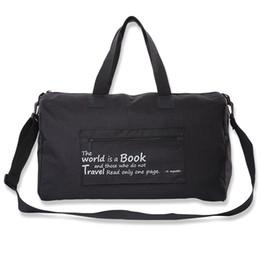 dbe4bad0d0a8 Foldable Waterproof Large Capacity Travel Bag Increasing Thickening Sport Bag  Luggage duffle pack Shoulder weekend bags