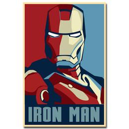 2019 mobiliário mediterrâneo Homem de ferro Superheroes Marvel Comic Movie Art Poster De Seda 24x36 polegada 24x43 polegada
