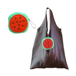 Canada 40pcs / lot pliez sac shopping oxford bande dessinée en peluche pastèque sac shopping pliant eco sac de magasinage réutilisable Offre