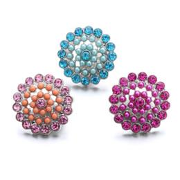 pulseiras coloridas Desconto NOOSA Snap Jóias Colorido De Cristal Acrílico Beads Snap Botão fit 18mm snap botão pulseira Colar de Jóias