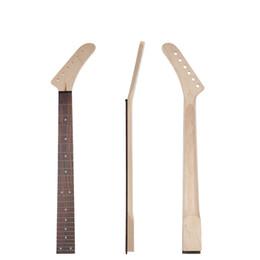 2019 guitarras de 24 fret Guitarra elétrica Pescoço 24 Trastes Rosewood Fingerboard Maple Para 6 Cordas Guitarra Elétrica Substituição