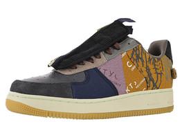 Donne con le scarpe da ginnastica online-Mens Forze Travis Zipper Cactus Jack scarpe da tennis per gli uomini di Scott Zip scarpe da skateboard sport delle donne del pattino donne Skateboard Man scarpa da tennis