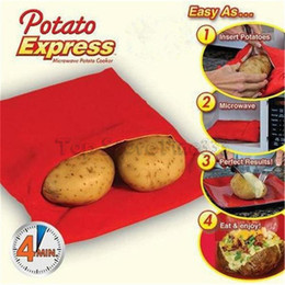 microwave cooking gadgets Promo Codes - Potato Express Bag Microwave Baking Potatoes Cooking Bag Washable Baked Potatoes Rice Pocket Easy To Cook Kitchen Gadgets With Retail Box