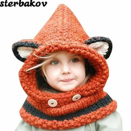 knit hat styles Coupons - sterbakov High quality Kids girls Style Coating Knit cap wool hats Winter Fashion Children Hats kids Hat Windproof hat cap