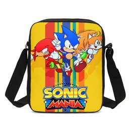 silver sonic Coupons - Mini Crossbody Bags For Kids Boys Girls Cool Anime Sonic The Hedgehog 3D Printing Messenger Bag Handbags Shoulder Bag Sling Bags