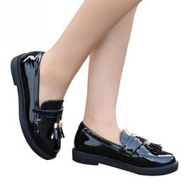 5134845591641e Designer Kleid Schuhe Damen Gummi Sohle Herbst Vintage Lackleder Solide  Anti-Rutsch-Casual