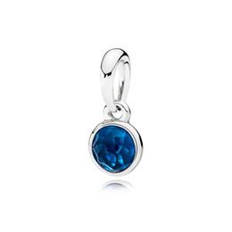 Londres pingentes on-line-CHAMSS 19 Anos Outono Dezembro Gota Pingente, London Blue Crystal Original Enviar Namorada Coringa Belo Presente Da Jóia