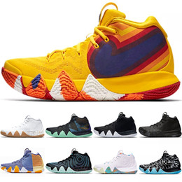 2019 disegnava scarpe Kyrie Irving 4 4s Uomo Scarpe da Basket Uncle Drew Triple Nero Oreo 70s 80s 90s Mamba Mentality Red Carpet Sport Sneaker 7-12 Dropshipping sconti disegnava scarpe