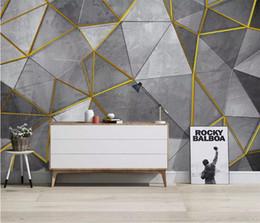 carta da parati rosa nera del fiore Sconti Personalizzato Nordic moderno minimalista papel de parede parete carta personalità geometrica tv murale sfondo 3d carta da parati