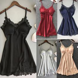 8a6d42e05d lingerie black nightwear sexy sleepwear Promo Codes - Women Sexy Lace Pad Lingerie  Nightwear Underwear Robe