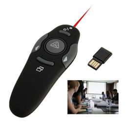 padrão verde ponteiro laser Desconto Wireless USB RF Apresentador Controle Remoto 2.4 GHz Sem Fio Remoto Laser Pointe Vermelho