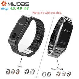 Lederarmband xiaomi online-Original Mijobs Leder / Stahlband / Plus Für Xiaomi Mi Band 2 Mehrere Armband Ändern Schöne Stilvolle Xiaomi Eco Kette