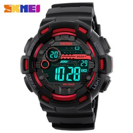 new mens trends watches Promo Codes - Skmei Brand New Sports Style Mens watches fashion outdoor waterproof electronic watch Designer Trend boy Wristwatches