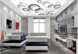 2019 круговой панно Пользовательские 3D фото шелк росписи обои вектор черно-белый круг 3D гостиная спальня Зенит росписи потолка стикер стены скидка круговой панно