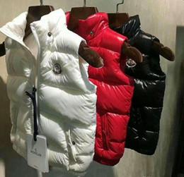 Casacos de mulher de marca para baixo casacos on-line-M Marca de Alta Qualidade crianças mulheres com capuz Para Baixo Do Colete Para Baixo Casaco Outerwear Casaco grosso inverno sportswear Preto / branco / Vermelho cor