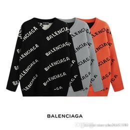 Argentina Nueva 2019 de lujo de la marca de París suéteres de los hombres de cuello redondo suéter cálido suéter GP hombres y mujeres chaqueta Suministro