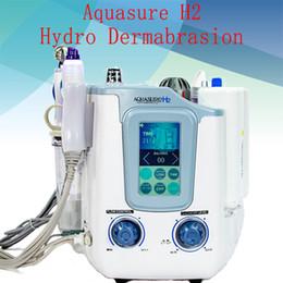 bio frecuencia de radio Rebajas 3 EN 1 Hydra Hydra facial Frecuencia de Radio dermoabrasión Ultrasonido BIO elevación de cara fría Martillo limpieza de la piel facial Peeling Máquina para el balneario