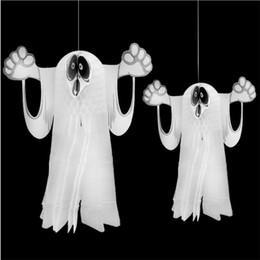 2019 neon costumi all'ingrosso Vendita calda di Halloween oggetti decorativi pieghevoli spettro tridimensionale Spettro Ciondolo Ghost Festival qualità della carta galleggiante Ghost T9I0096