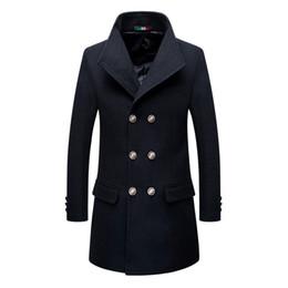 mode herren oberbekleidung graben Rabatt Brand New Winter Zweireiher Trenchcoat Herren Kaschmir Mantel Slim Fit Lässige Mode Jacken Männlich Wollmischungen Oberbekleidung