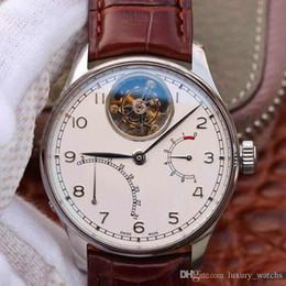 2019 embalagem relógio de luxo CW504601 relógio de luxo 51900 zhentuo totalmente automático movimento volante pulseira de couro de crocodilo pacote 18 k rosa relógios de platina mens desconto embalagem relógio de luxo