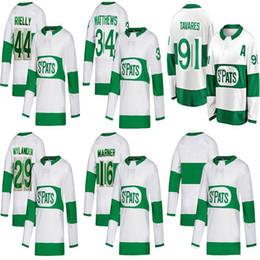 2019 camisas de hóquei verde em branco 2019 Toronto Maple Leafs pancadinhas Jerseys 16 Mitchell Marner 44 Morgan Rielly 29 William Nylander jerseys Branco Verde Alternate hóquei em branco camisas de hóquei verde em branco barato