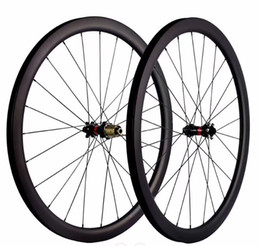 kohlenstoff-straßenräder china Rabatt 700C Rennrad-Radsatz aus Kohlefaser 30 40 45 50 55C Tiefe 25mm Straßenscheibenbremse Version 411/412 Nabe, Vier-in-Eins-Öffnung