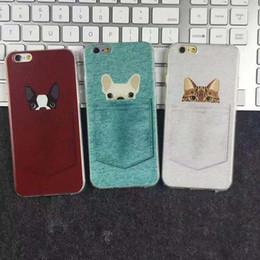 silikonhundetelefonkasten Rabatt Cute cartoon tasche hund und katze schutz stoßfest silikonkautschuk weiche tpu geprägte telefon case abdeckung für iphone 6s 7 8 plus x xs max xr