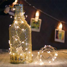 batterie leuchtet Rabatt 2 Mt 20 LEDs Girlande Dekorative LED String Licht Kupferdraht CR2032 Batteriebetriebene Weihnachten Hochzeit Dekoration String Lichterketten