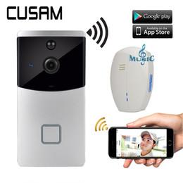 CUSAM беспроводной Интерком видео дверной звонок Wifi Smart 720P HD камера дверной звонок двухстороннее аудио ночного видения датчик движения от Поставщики беспроводной телефон home lcd