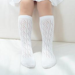 calzini bianchi per bambini al ginocchio bianco Sconti Neonate Calzini al ginocchio appena nati Baby boy Calzini sottili a maglia grigio estate bianco 0-8T B11
