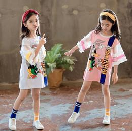 Nouvelles filles de bande dessinée robes dentelle mousseline princesse robes mode été longues enfants t-shirt enfants vêtements de marque filles habillent les enfants ? partir de fabricateur