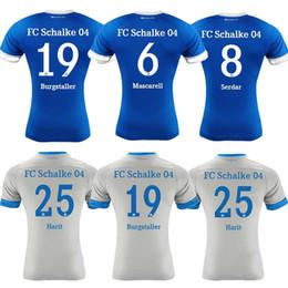 2018 19 Newest Man Schalke Soccer Jersey Uth Serdar Bentaled Football Shirts  SANE maillot Caligiuri Football Jerseys Men unifrom de foot ffc12ef29