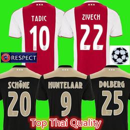 e98a2f06eee78 maillot de joueur de football Promotion Ajax Soccer Jersey 2018/19 Domicile  Extérieur ZIYECH TADIC