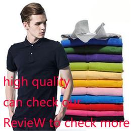 Топ-поло бренды онлайн-2018 Brand Designer Summer Polo Tops вышивки Роскошные мужские рубашки поло Мода рубашки Мужчины Женщины High Street Casual Top Tee