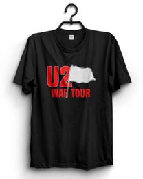 U2 War Tour Vintage 1983 Konzert-T-Shirt in Schwarz Größe S bis 3XL Reprint Lustiges freies Verschiffen Unisex-T-Shirt von Fabrikanten