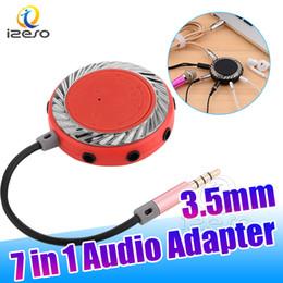 cabo usb adaptador multi Desconto para computador moblie telefone ipad mp3 7 em 1 3.5mm cabo de áudio adaptador splitter fone de ouvido 7 vias multi splitter adaptador de áudio de alta qualidade