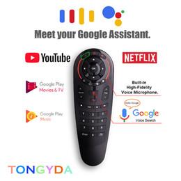 G30 controle remoto sem fio 2.4G Voz Air Mouse 33 chaves IR aprendendo Gyro Sensing remota inteligente para Jogo para Android caixa de TV X96 MINI de