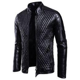 rivestimento casual del motociclista di affari Sconti Moda Uomo Moto PU Giacche in pelle Uomo Autunno Inverno Slim Fit Giacche Uomo Business Fitness Casual Capispalla Casual