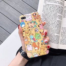 2019 graffiti iphone hüllen Flüssiger Silikon-Telefon-Kasten-japanische Karikatur für Iphone Xr 6 7 8 X Plus-Xs maximale Graffiti Pikachu weiche Handy-Fälle günstig graffiti iphone hüllen