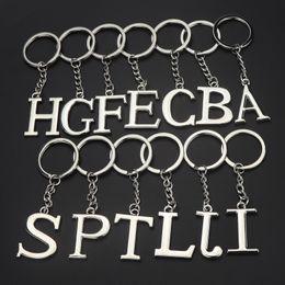 Mode Anglais Alphabet Porte-clés En Métal Simple Couleur Pure Anti-Porter Porte-clés Créatif Unisexe Populaire Lettre Lettre Anneaux TTA843 ? partir de fabricateur