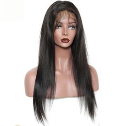 100% Brezilyalı Bakire Saç Tam Saçak Peruk İnsan Saç Tutkalsız Dantel Patlama Ile Ön Peruk Düz Tam Dantel İnsan Saç Peruk supplier fringe bangs straight hair nereden saçak saç dökülmesi düz saç tedarikçiler