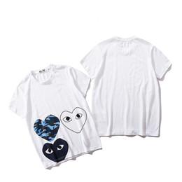 Camisetas nuevos modelos hombres online-Primavera y verano nuevos juegos japoneses casual algodón amor corazones camiseta hombres mujeres modelos amantes hip hop camiseta