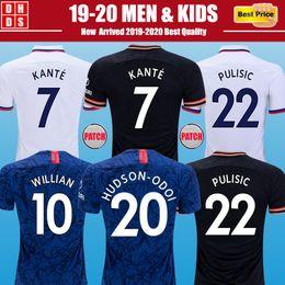 Uomini camicie uv online-Chelsea Thailandia HAZARD JORGINHO PULISIC maglia da calcio 2019 2020 HIGUAIN GIROUD KANTE Camiseta de football kit camicia 18 19 20 maillot kit camisetas