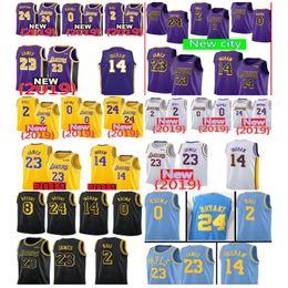 6bf3b2517 23 James Lakers Jersey 0 Kyle LeBron Kuzma Men Youth 2019 Los Angeles James  Lakers 2 Ball 14 Brandon Lonzo Ingram 24 Bryant new City Kobe