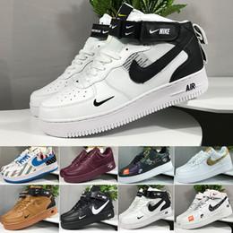 Nike air force 1 one off white Rápido envío de la venta caliente 2018 nueva línea de la mosca del estilo mujeres de los hombres de alta baja amante de los zapatos desde fabricantes